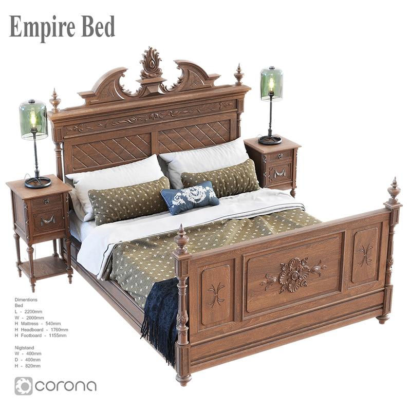 3D bed empire