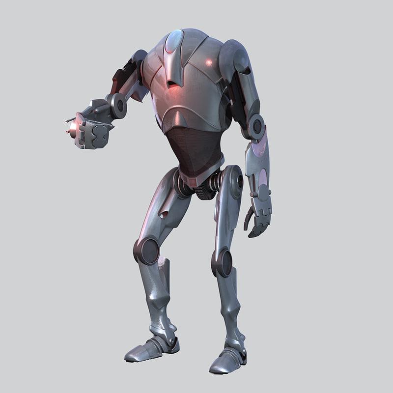 star wars b2 super 3D model