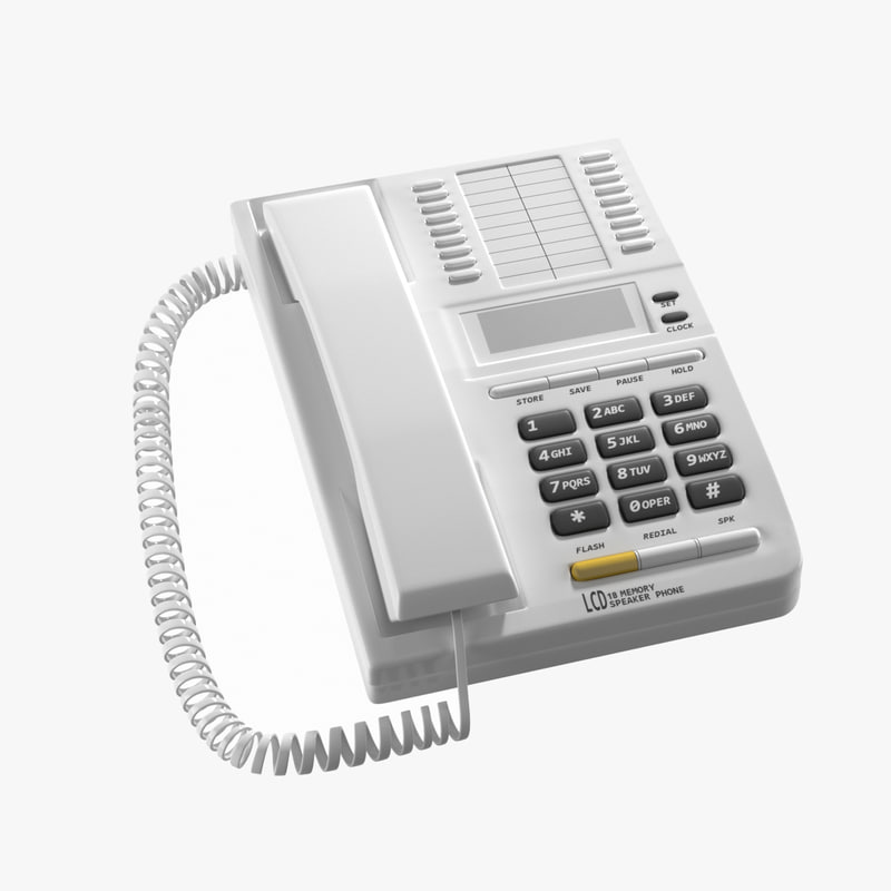 3D telephone office phone