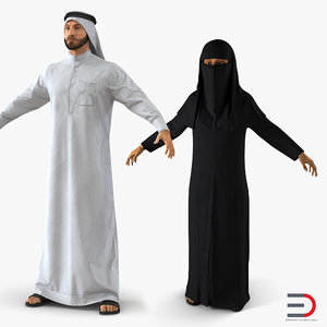 3D arab people model