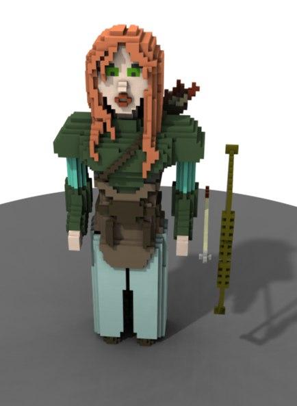 3D human girl model