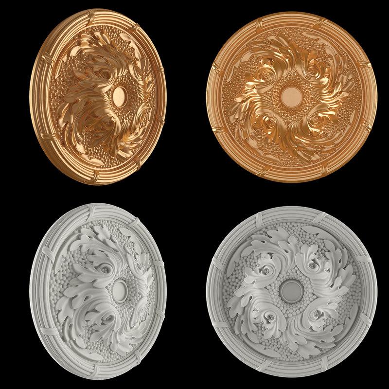 rosette gold 3D