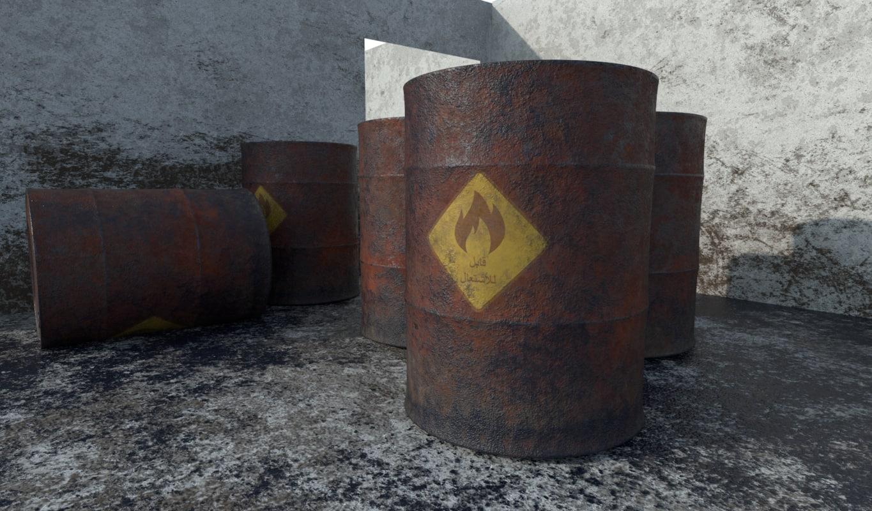 old arab oil barrel 3D model