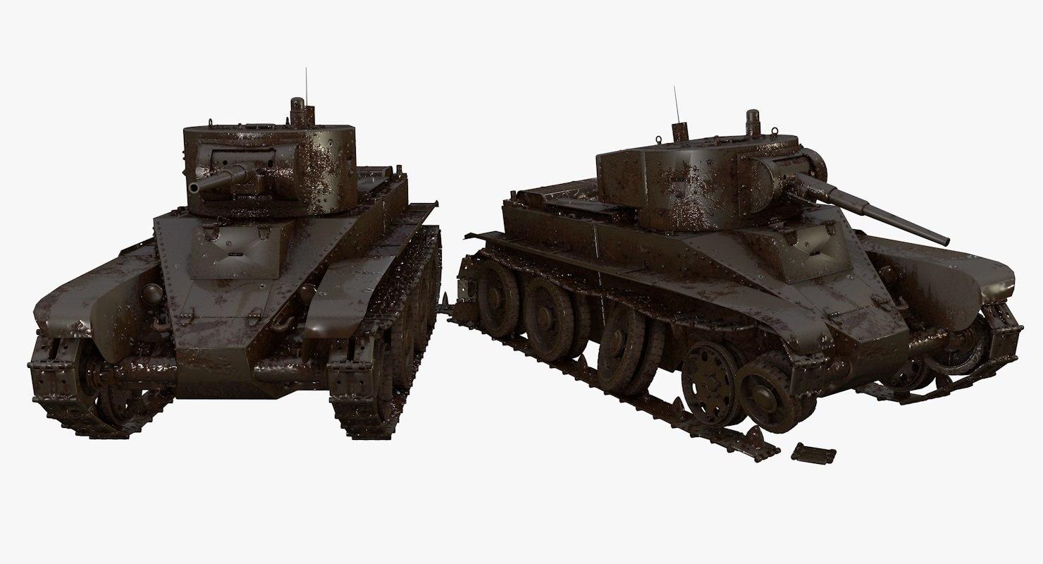 battle worn tanks bt-7 model