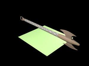 3D model ax