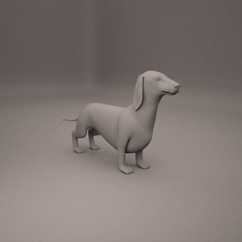 dachshund 3D model