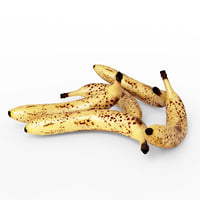 3D realistic old banana model