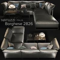 3D sofa natuzzi cambre 2638 model