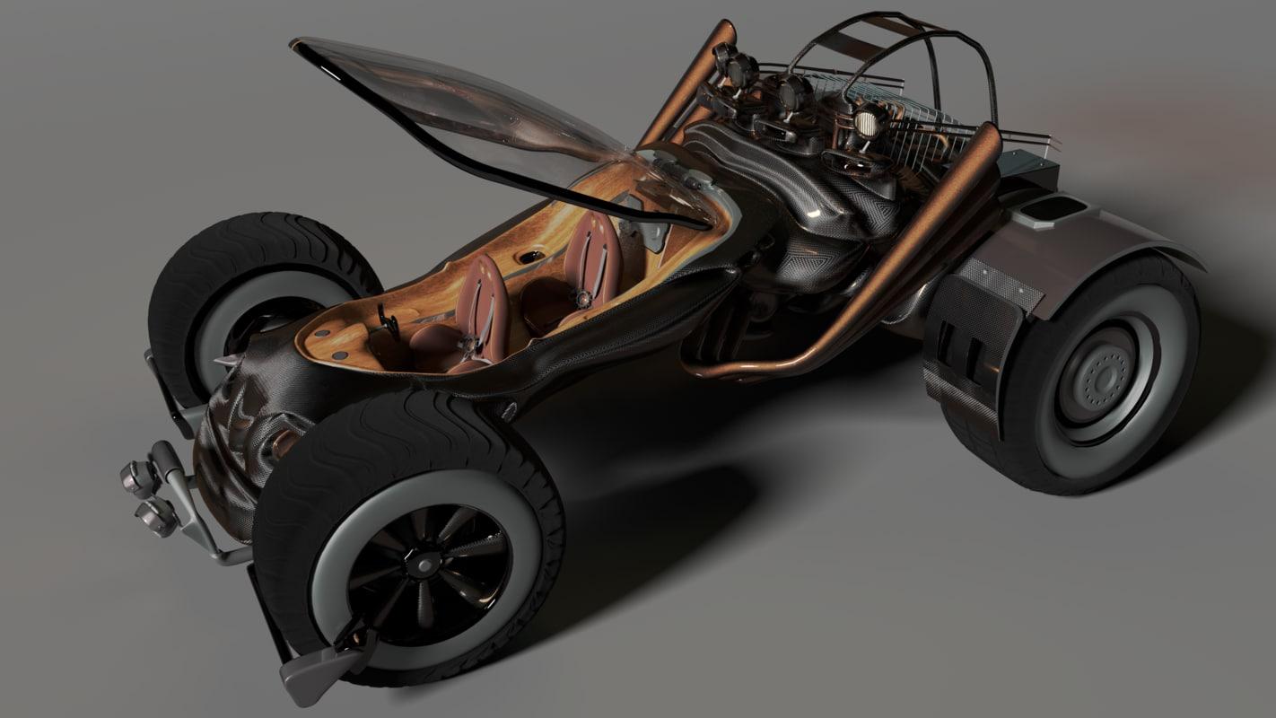 sci-fi car moonwalker model