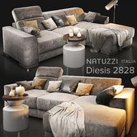 3D model sofa natuzzi diesis 2828