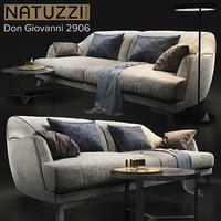 sofa natuzzi don giovanni 3D model