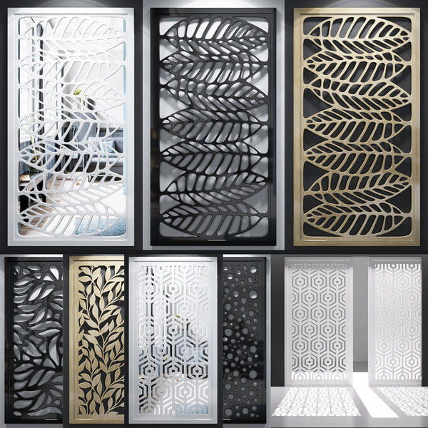 3D screen decorative model