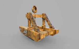 3D katapult model
