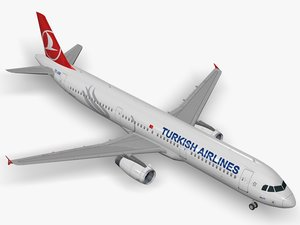 airbus turkish airlines a321 3D model