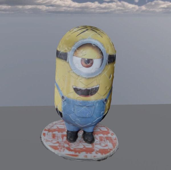 3D minion jigsaw