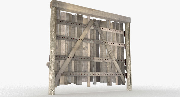 aged weathered wood plank 3D model