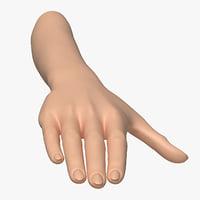 3D female arm pose