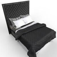 3D model bed noir