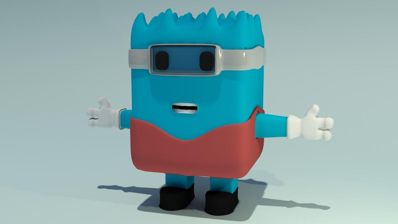 3D model krucil character