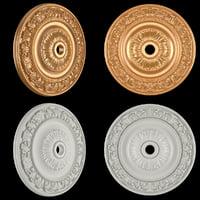 rosette gold 3D model
