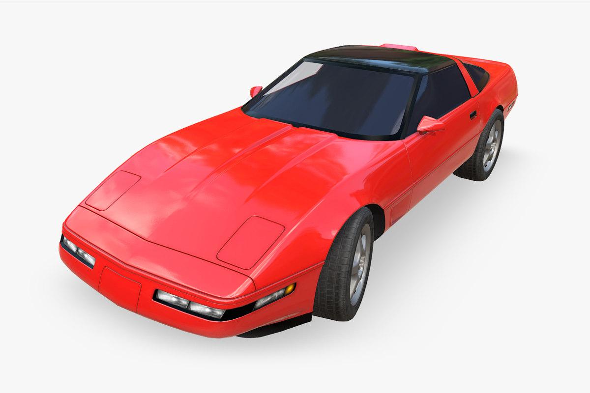 chevrolet corvette 1995 3D model
