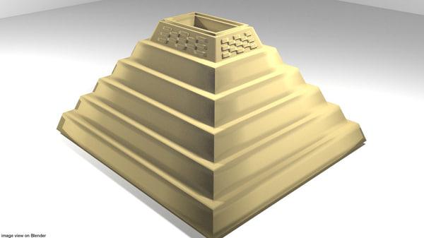 djoser pyramid 3D model