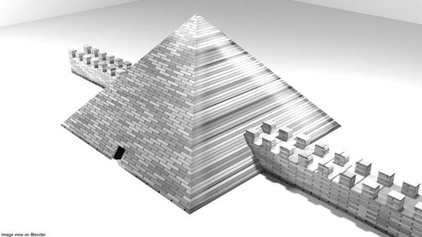 3D cestius pyramid