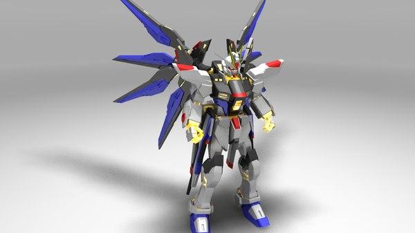 strike freedom gundam 3D