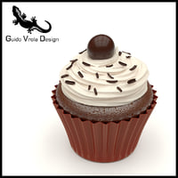 sweet cupcake chocolate model