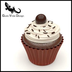 sweet cupcake chocolate model