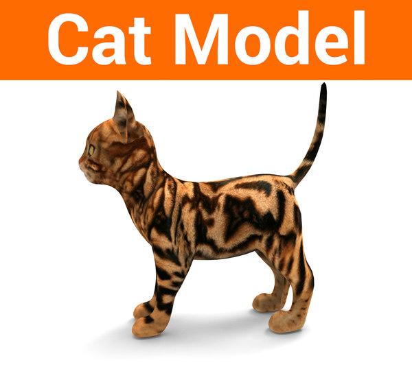 3D model cute cat