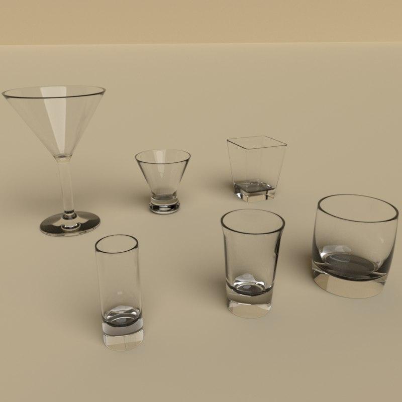 glas glass 3D model