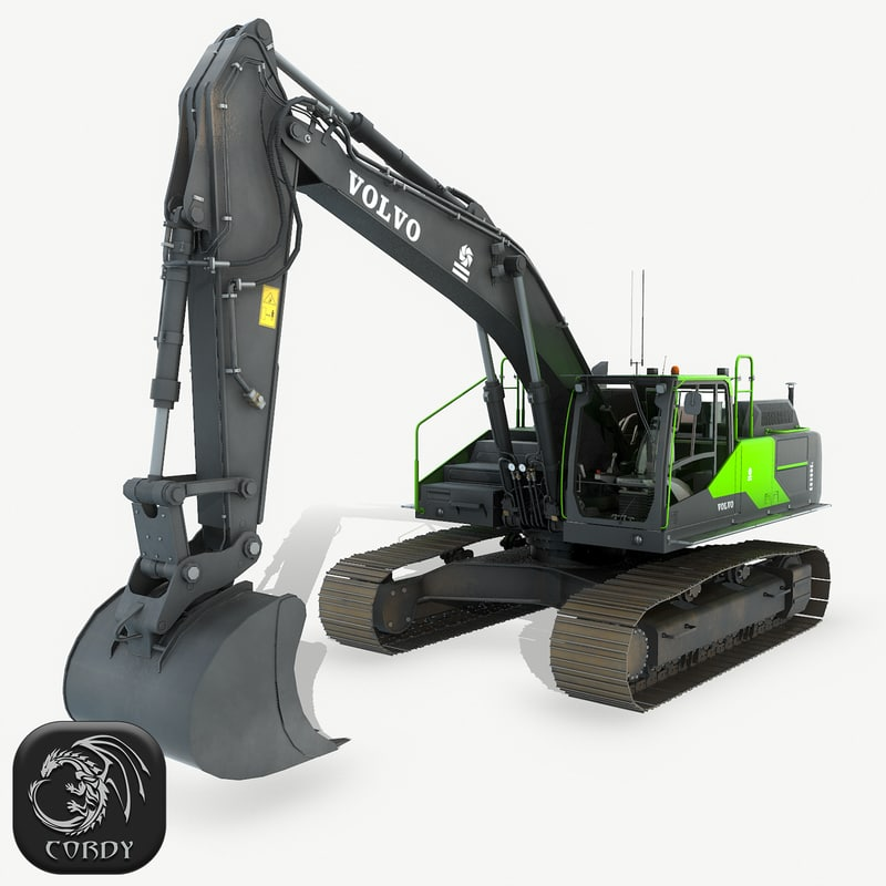 hydraulic excavator ec 3D model