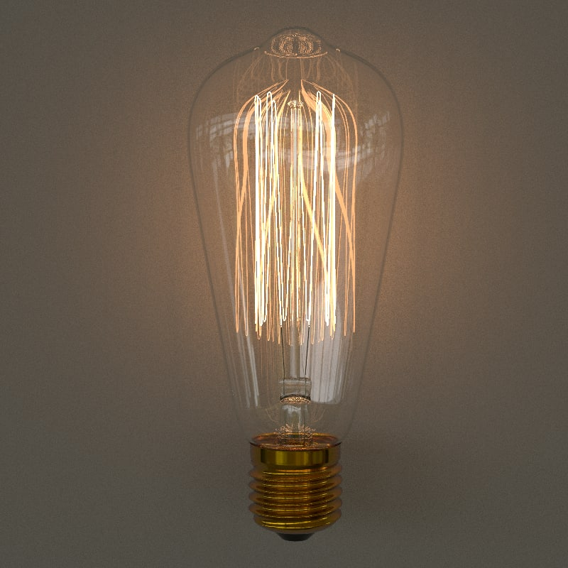 edison bulb 3D