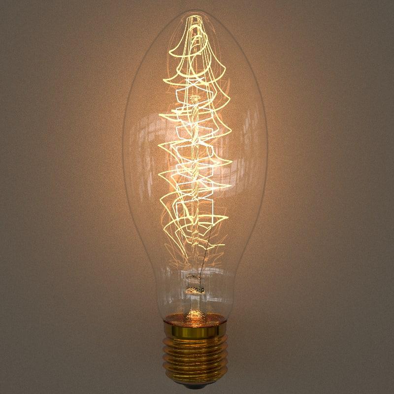 3D edison bulb