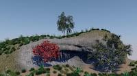 grass cave 3D model