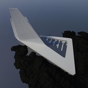 3D model concept modern architecture