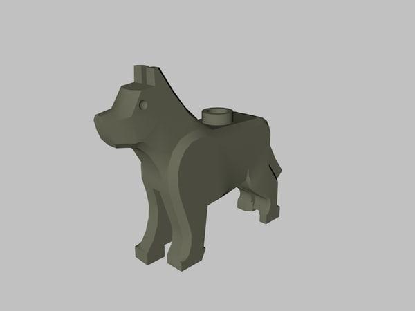lego wolf 3D model
