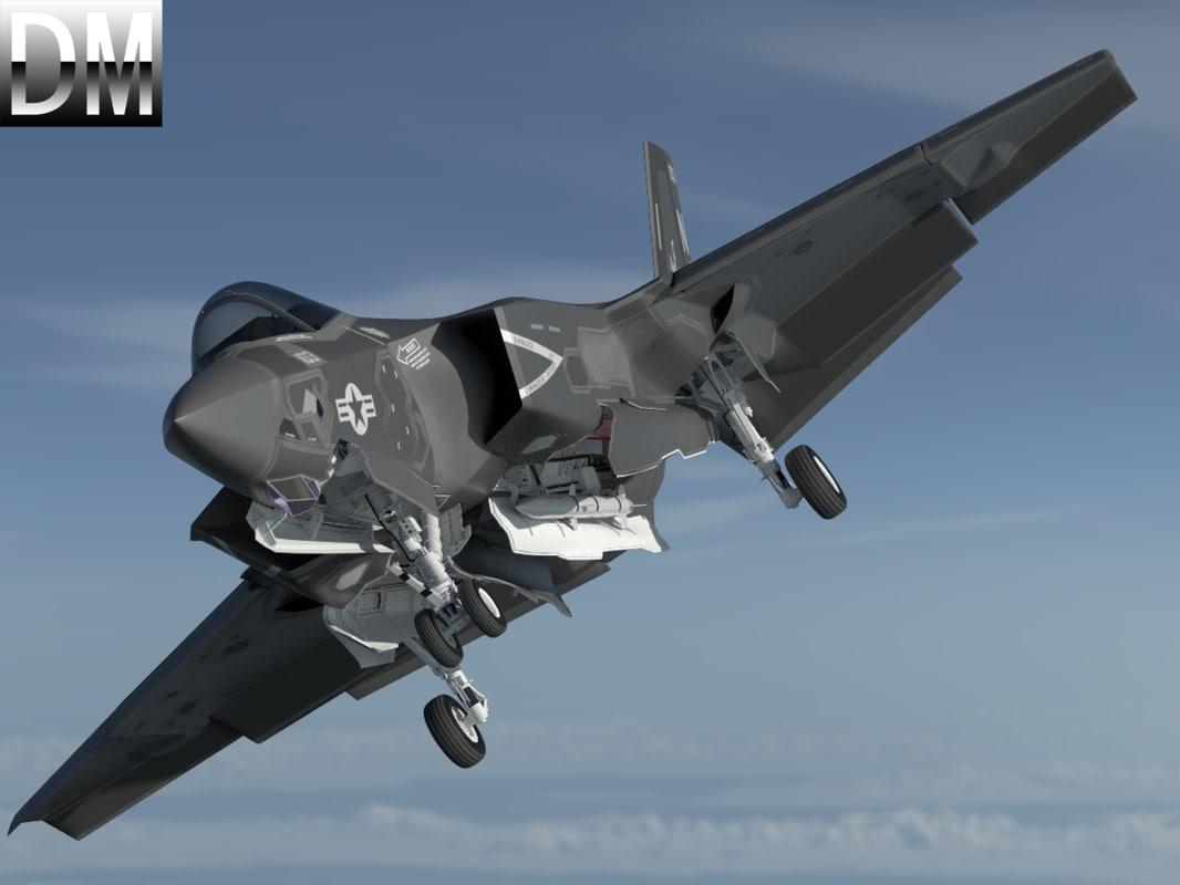 3D f-35 f-35c f-35cf