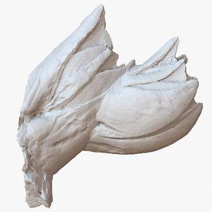 purple barnacle sea shell 3D model