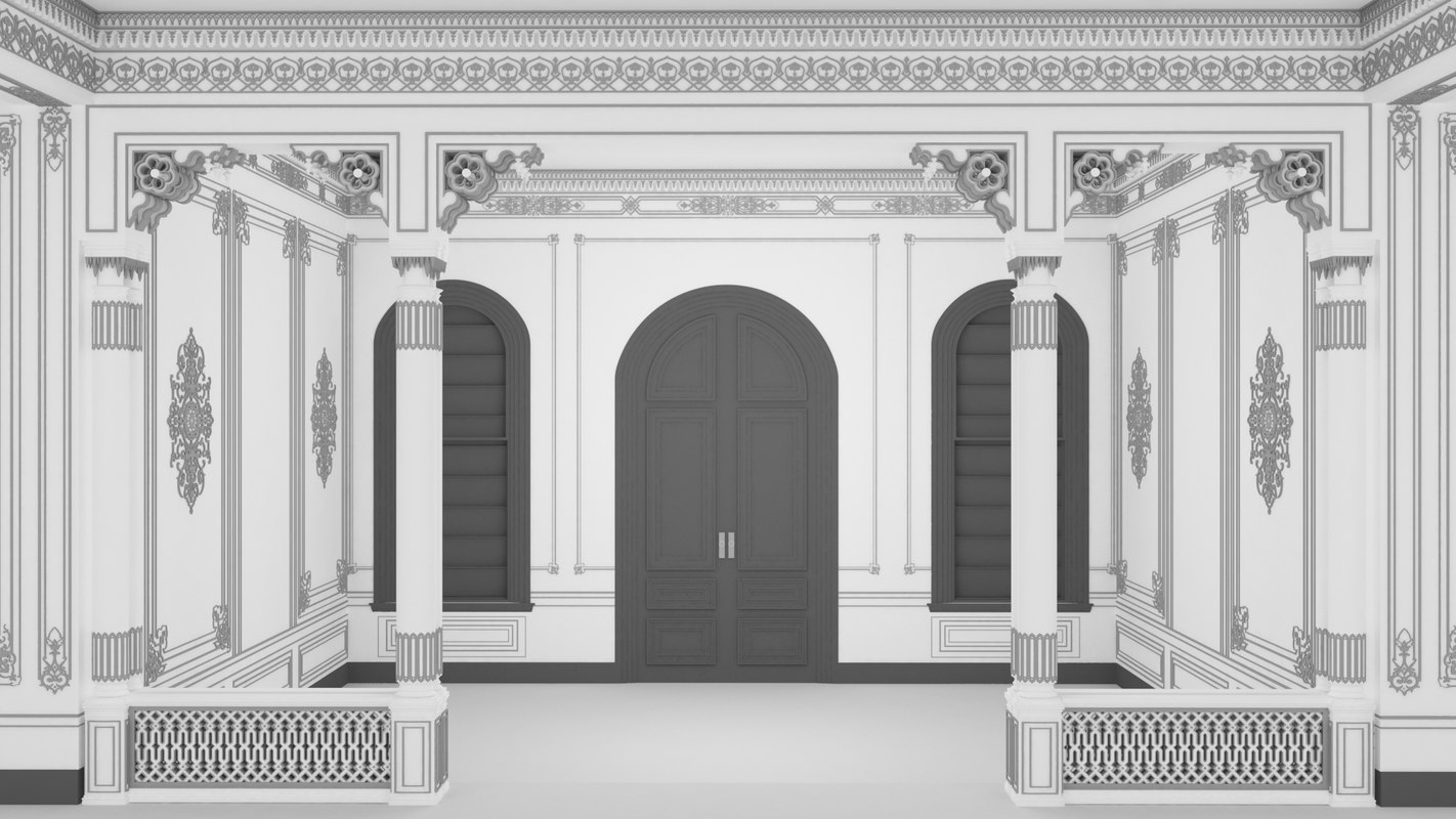 scene palace room 3D model