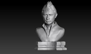 3D bust vladimir putin
