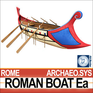ancient roman boat ea 3D