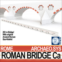 ancient roman bridge ca 3D model
