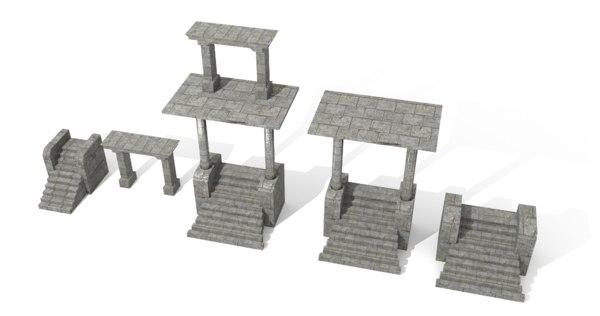 entrance buildings architecture 3D model