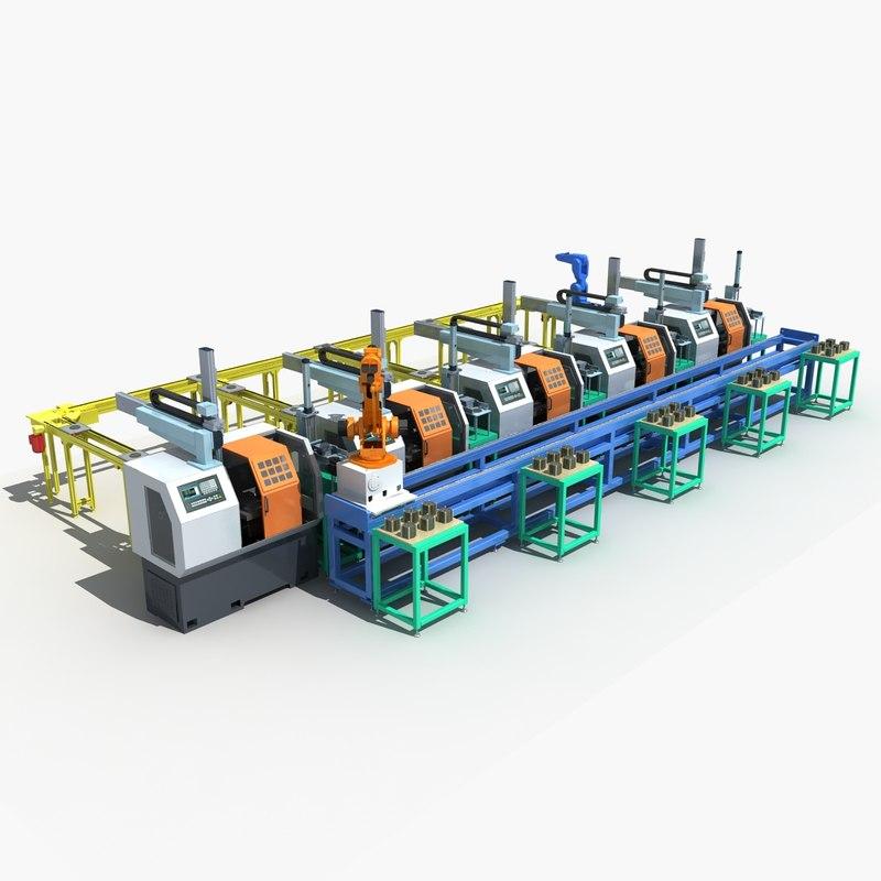 3D machine automation production line