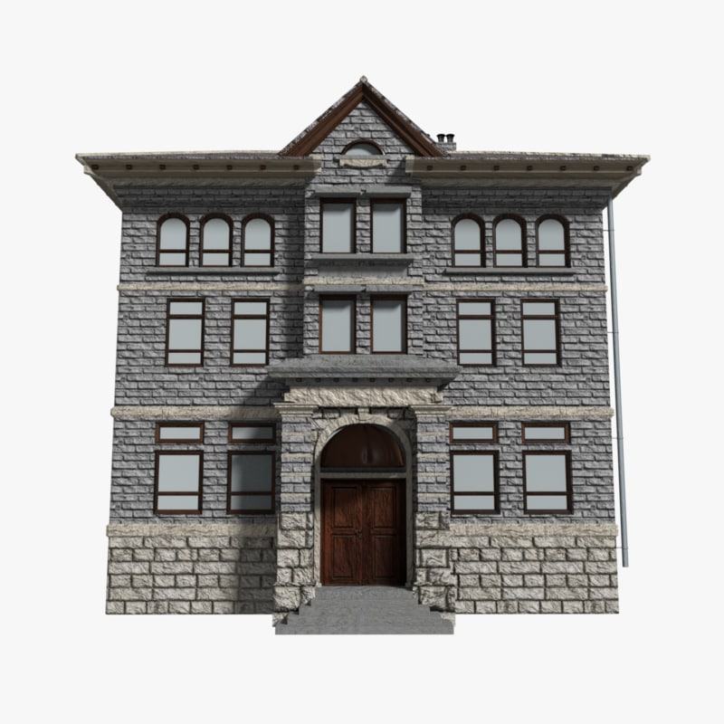 3D building mansion model