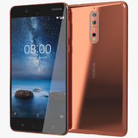 realistic nokia 8 polished 3D model