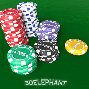 poker chip 3D model
