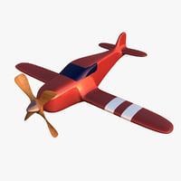 3D simple toy airplane model
